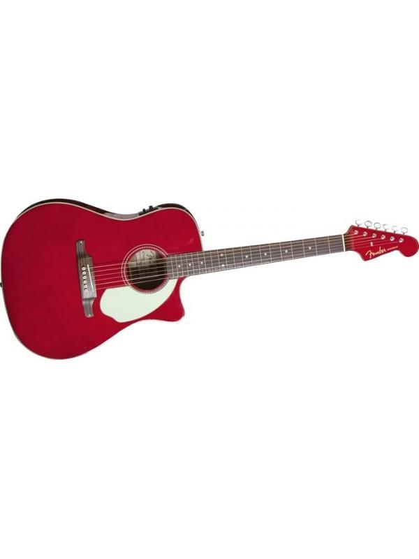 GUITARRA ACUSTICA FENDER Sonoran SCE  Candy Apple Red v - Nuestro Sonoran SCE está adornado con una acción acústica aún más sol-y-diversión, actualizado con un pickguard de tres capas, una tuerca de hueso y una silla de puente y un puente Vender de Fender de estilo vintage. Es perfecto para los que cavan el estilo de la vendimia y buscan montar la ola de la historia clásica de Fender y de la sensación del sur de California.  Otras características premium incluyen una forma de cuerpo estrecha
