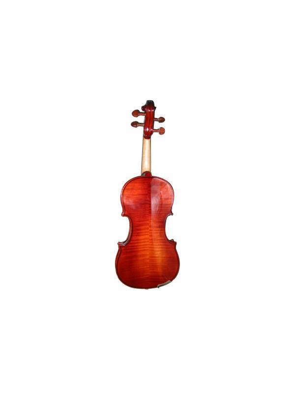 VIOLÍN CALIDAD D DIVERTIMENTO - Madera maciza, accesorios de palosanto rojo, diapasón de ébano, montado, listo para tocar. Incluye arco y estuche triangular.