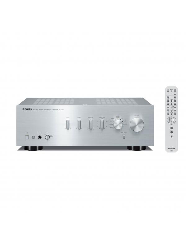 AMPLIFICADOR YAMAHA A-S301 - Amplificador de 60W con circuito de amplificación directa de CD / DVD. Disponible en negro y plata.