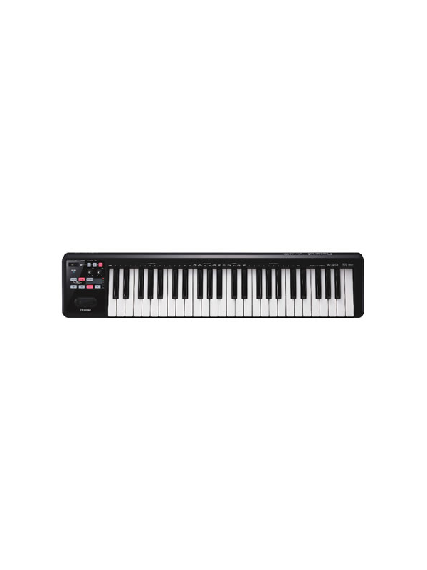 TECLADO CONTROL USB 49 TECLAS A-49-BK/WH ROLAND - TECLADO CONTROL USB A-49. Este controlador ligero, cuenta con un teclado de tamaño completo, de calidad superior que sube el listón en su clase. Disponible en acabados blancos y negros perlas, el A-49 es un sueño para los músicos que buscan un teclado MIDI sencillo, fácil de usar con un tacto pro.