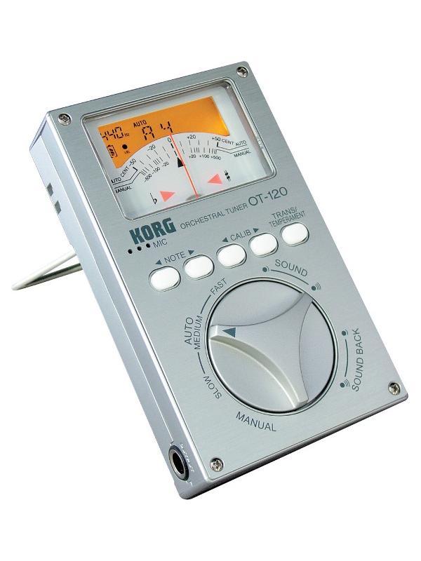 AFINADOR CROMÁTICO OT-120 DE KORG - Afinador cromatico Korg para instrumentos de orquesta.