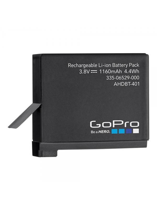 Batería recargable para HERO4 - Utiliza esta batería recargable de 1160mAh de ion-litio como repuesto o reemplazo para tu cámara HERO4 Black o HERO4 Silver.
