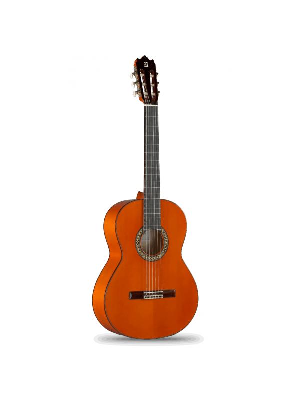 GUITARRA FLAMENCA ALHAMBRA 4F - El color de la guitarra Alhambra modelo 4 F no pasa desapercibido y lo convierte en un instrumento con mucha personalidad