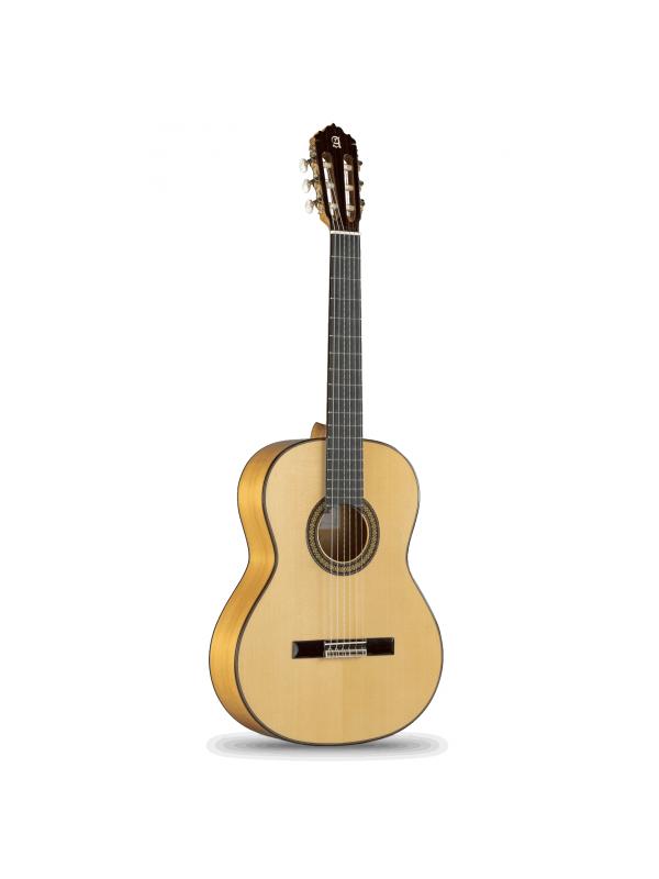 GUITARRA FLAMENCA ALHAMBRA 7Fc - La  Alhambra 7 Fc es una maravillosa guitarra flamenca con un hermoso ciprés macizo para los aros y fondo. Tremendo, genuino, brillante  e impresionante sonido flamenco junto con un tono constante.