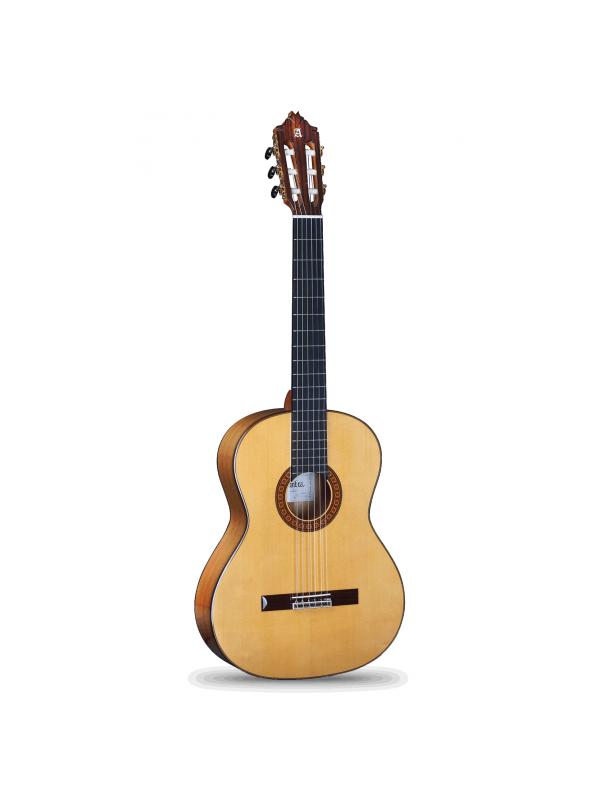 GUITARRA FLAMENCA ALHAMBRA 8FC - La nueva guitarra flamenca 8 Fc es un paso adelante con respecto al modelo 7 Fc,  con una mejor selección de las maderas, nueva marquetería y un nuevo diseño de pala. El modelo de 8 Fc es una guitarra maravillosa con un sonido bello y auténticamente flamenco. Su tono es muy constante en todo el diapasón. Tiene un sonido brillante y un gran carácter.