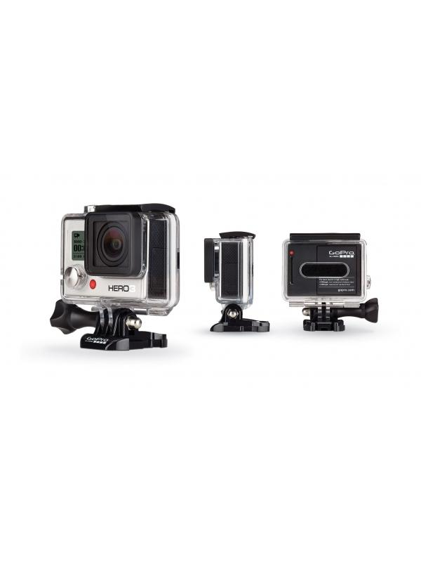 Videocámara deportiva sumergible HERO3 White - Features 1080p30 video, 5MP photos up to 3 frames per second, built-in Wi-Fi and an ultra wide-angle lens. Waterproof to 131' (40m).
