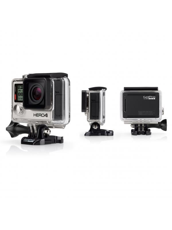 Videocámara deportiva sumergible HERO4 Black - Con vídeo de 4K30, 2.7K50 y 1080p120 fps, fotos de 12 MP de hasta 30 cuadros por segundo, Wi-Fi y Bluetooth® integrados, y Protune™ para fotos y vídeo. Sumergible a 40 m. - See more at: http://es.shop.gopro.com/EMEA/cameras/hero4-black/CHDHX-401-master.html#.dpuf mediante Wi-Fi.