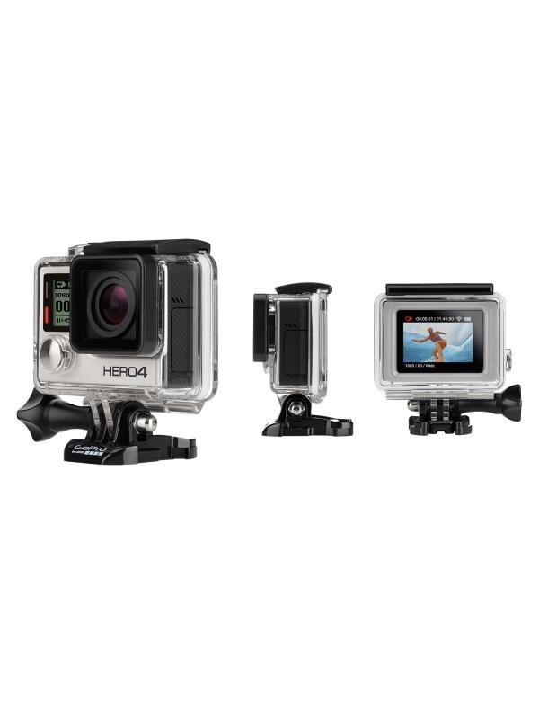 Videocámara deportiva sumergible HERO4 Silver - Features 1080p60 and 720p120 video, 12MP photos up to 30 frames per second, built-in Wi-Fi and Bluetooth®, and Protune™ for photos and video. Waterproof to 131' (40m).