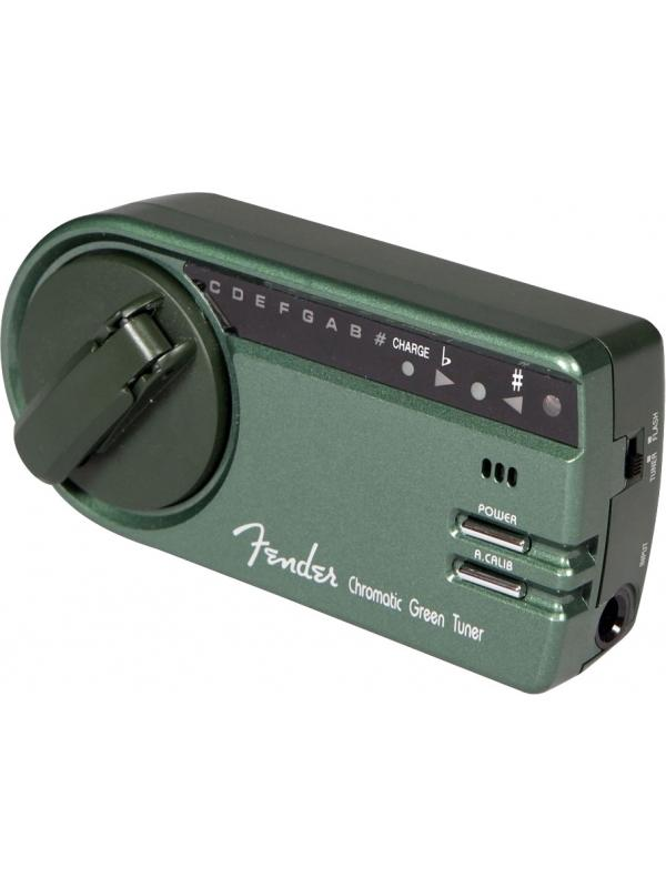 Chromatic Green Tuner™ - Esta idea inteligente de Fender, es un sintonizador ecológico, por lo tanto, la cubierta verde. ¡Ahorre en las baterías y Chromatic Green Tuner con alimentación cinética  ¡Todo lo que tienes que hacer es girar el dial unas cuantas vueltas y sintonizar - nunca tendrás que preocuparte por las baterías en tu sintonizador