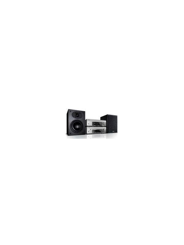 MINICADENA D-F109 N DENON - El predecesor del sistema F109 se forjó una gran credibilidad por su excepcional rendimiento de audio y el acabado de alta calidad de todos sus componentes, con un panel frontal de aluminio en sintonía con la calidad del interior. Ahora, el sistema F109N está formado por un receptor estéreo y el nuevo reproductor de audio en red DNP-F109, que por supuesto puede conectarse digitalmente al receptor.