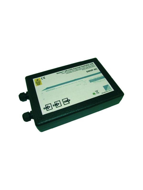 UNIDAD DENON DNVP-XC - DENON DNVP-XC. Unidad que permite mediante cierres de contacto controlar la reproduccion y disparar hasta 6 listas de reproduccion programadas en el DN-V755. Tambien dispone de 2 salidas programables con rele de 6A para interactuar con otro sistema. No necesita baterías, la alimentación la suministra el propio DN-V755 a través del conector paralelo.