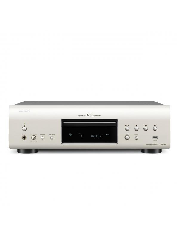 LECTOR DE CD Y SACD DCD-1520AE DENON - Lector estereo de CD y SACD DCD-1520AE DENON con lectura de MP3 y WMA. Disponible en negro y en silver premium.