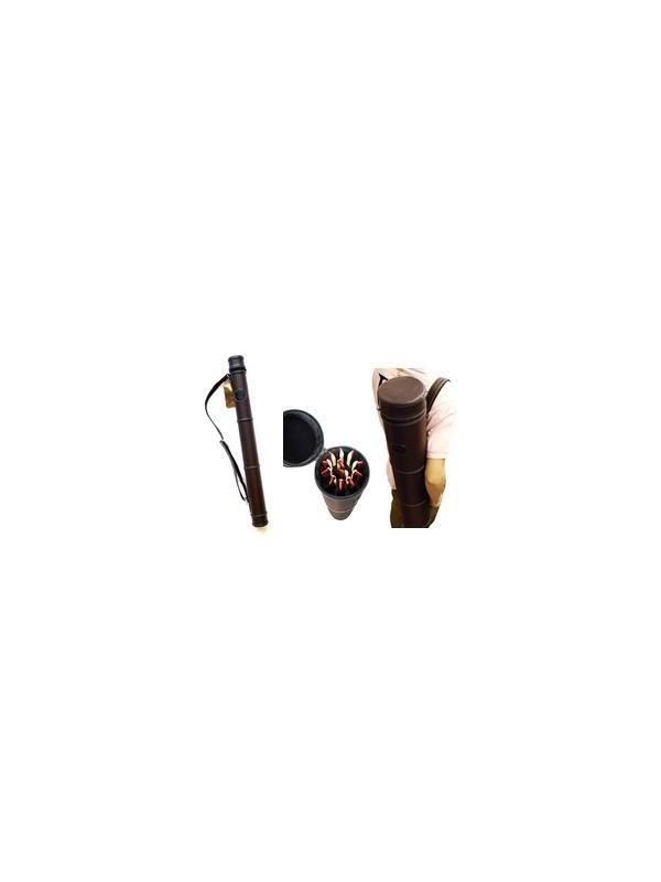 ESTUCHE PARA ARCOS PEDI - Forma redonda elegante, muy sólido y resistente, exterior de poli piel, impermeable,Interior de terciopelo acolchado para mayor protección