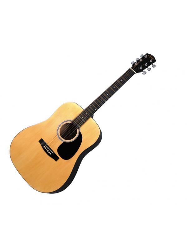 GUITARRA ACUSTICA FENDER SA-105 NATURAL - La guitarra acústica SA-105 por Fender Suqier tiene el sonido y la sensación de que uno esperaría de guitarras a un rango de precios completamente diferente. Representa un excelente compromiso del sonido y cuidado estético de los detalles, a un precio razonable. Todo ello basado en la garantía de la marca Fender