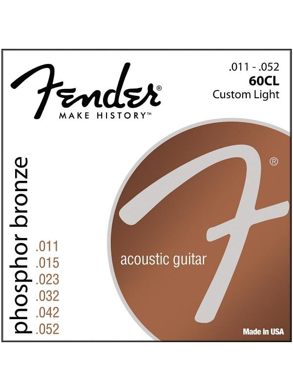 JUEGO DE CUERDAS FENDER ACOUSTIC GUITAR STRINGS - Cuerdas de Guittarra acústica Phospor Bronze Wound - Ball End