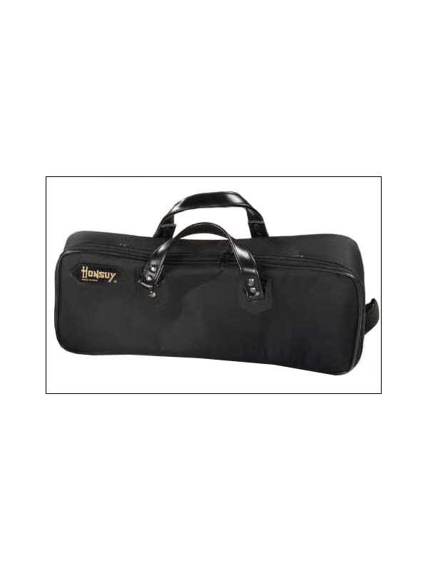 BOLSA PARA CORNETA LARGA - Bolsa forrada en color negro para corneta larga.