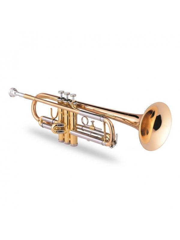 TROMPETA JÚPITER JTR 606 RL - La trompeta Jupiter JTR-606 RL se adapta perfectamente a las necesidades de los jóvenes estudiantes y sobre todo, a su bolsillo. Ofrece características de modelos superiores como son el anillo para la bomba del 3º pistón o los pistones de monel, los cuales garantizan un buen y silencioso funcionamiento de la maquinaria.