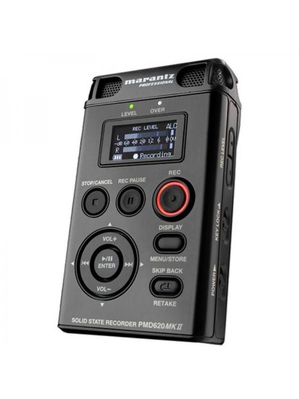 GRABADOR DIGITAL PORTÁTIL.MARANTZ PMD-620  - MARANTZ PMD-620 MKII Equipo de mano que permite la grabación y reproducción de audio directamente en tarjetas de memoria SD y SDHC.