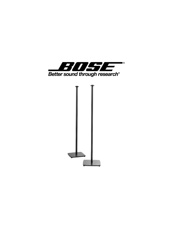 Soportes de pie de aluminio BOSE OmniJewel™ floor stand - Soportes de pie de aluminio extruido con bases de vidrio templado que dan una imagen excelente al altavoz a la vez que permiten esconder los cables .Diseñados para optimizar la experiencia sonora .  Se venden en pareja . Altura : 96.5 cm.