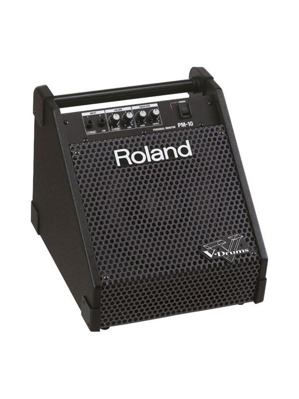 SISTEMA DE AMPLIFICACIÓN PM-10 - Amplificador monitor personal pensado para ser el compañero portátil del V-Drums de Roland (incorpora asa de transporte).