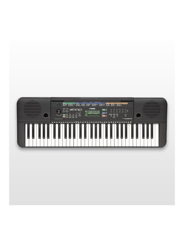 TECLADO DIGITAL PORTATIL 61 TECLAS PSR-E253 YAMAHA  - El teclado portátil Yamaha PSR-E253 contiene fantásticos sonidos y características, ideal para músicos principiantes que acaban de empezar. Use las lecciones incorporadas del Yamaha Education Suite (Y.E.S.) para aprender con las 100 canciones predeterminadas, o aproveche los 385 sonidos y 100 estilos para experimentar y crear su propia música. La entrada auxiliar, convierte al PSR-E253 en un sistema de altavoces para su reproductor MP3, y así poder tocar encima de la música, o simplemente escucharla. Y todo, a un precio muy asequible.