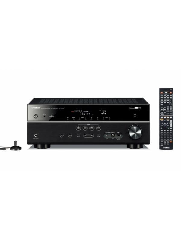 RECEPTOR AUDIO/VIDEO YAMAHA RX-V475 - Receptor AV de 5 canales con 115W cada canal y entrada USB. Disponible en Negro.