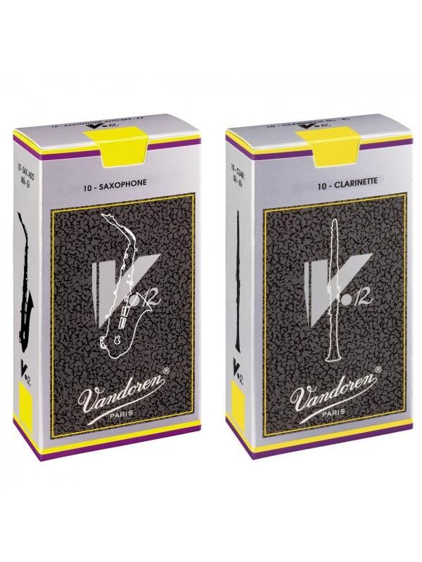 Cajas de cañas Vandoren V-12 (10 Unidades) - Cañas VANDOREN V-12 para Clarinete y Saxofon.