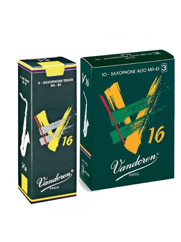 Cajas de cañas Vandoren V-16 (10 / 5 Unidades) - Cañas VANDOREN V-16 para Saxofones.