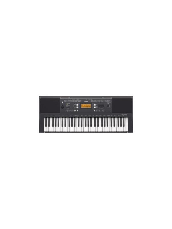 TECLADO DIGITAL PORTATIL 61 TECLAS PSR-E353 YAMAHA  - Teclado de 61 teclas con respuesta a la pulsación, que ofrece 550 voces de sonido natural. 61 teclas sensibles a la pulsación. 553 sonidos, 158 estilos, 154 canciones, polifonía 32 notas, Pantalla LCD. Función Dual y olit, Estéreo Ultra wide. Secuenciador de 2 pistas (5 canciones) Master EQ. AUX IN y función Supresor de Melodía. Registros de Memoria, Arpegiador con 150 tipos Apps para dispositivos iOS, USB to Host