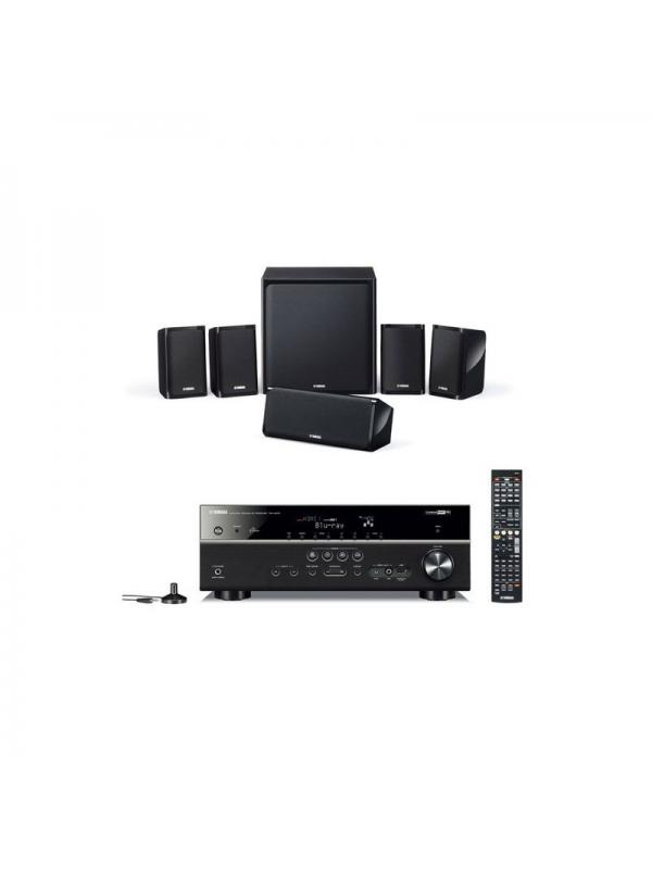 SISTEMA SURROUND 5.1 + RECEPTOR A/V YHT-3792BT YAMAHA - Solución completa Audio / Video formada por RX-V379 + NS-P20