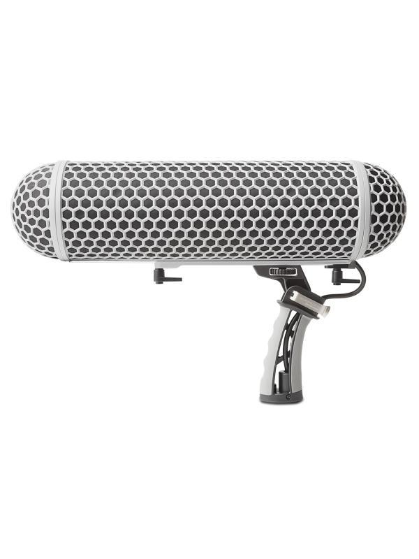 MARANTZ ZP-1 - Protector antiviento para micrófonos de cañón. La cubierta incrementa la atenuación de ruido de viento hasta 36dB.(-45dB con funda de pelo sintético incluida). Cuenta con un soporte antiviratorio interno para alojar micrófonos de hasta 36cm. de longitud. Permite el uso de mano o adaptado a pértiga.