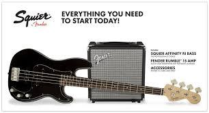 PACK BAJO SQUIER AFFINITY SERIES PRECISION BASS R15 BLACK