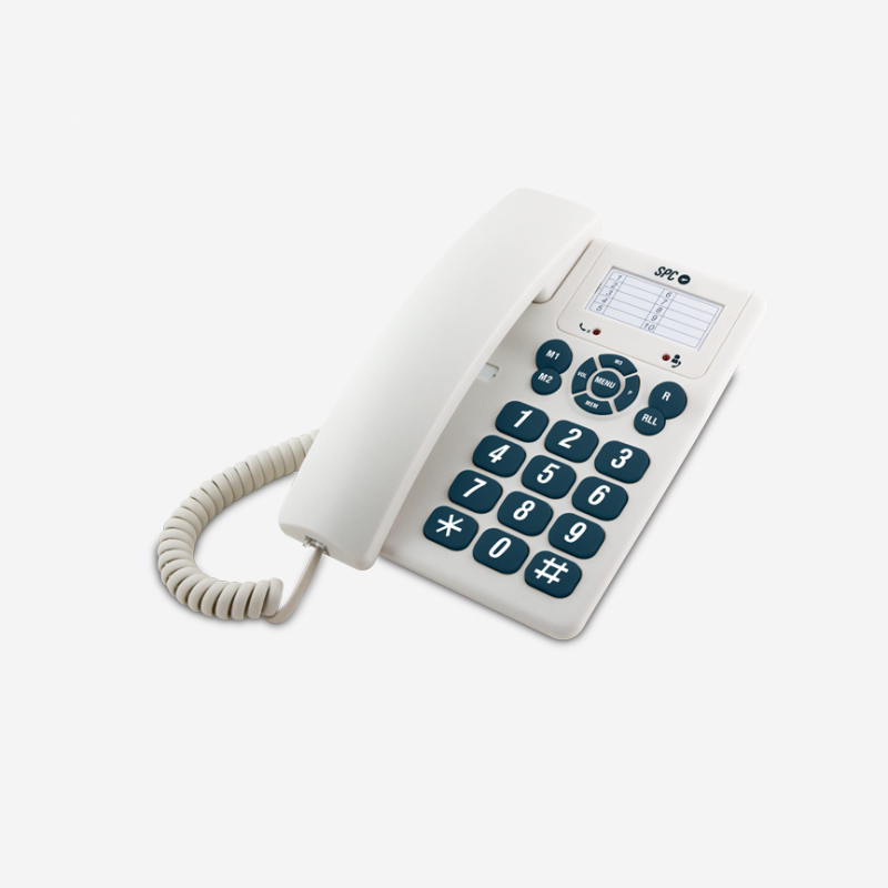 TELEFONO FIJO SOBREMESA SPC TELECOM 3602N COLOR BLANCO - TELEFONO FIJO SOBREMESA SPC TELECOM 3602N COLOR BLANCO