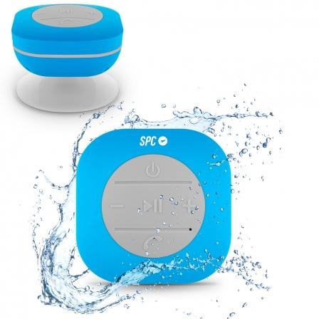 ALTAVOZ BLUETOOTH IMPERMEABLE SPC SPLASH SPEAKER - 3W - BT - VENTOSA - BAT. 300mA - USB - FUNCION  - ALTAVOZ BLUETOOTH IMPERMEABLE SPC SPLASH SPEAKER - 3W - BT - VENTOSA - BAT. 300mA - USB - FUNCION