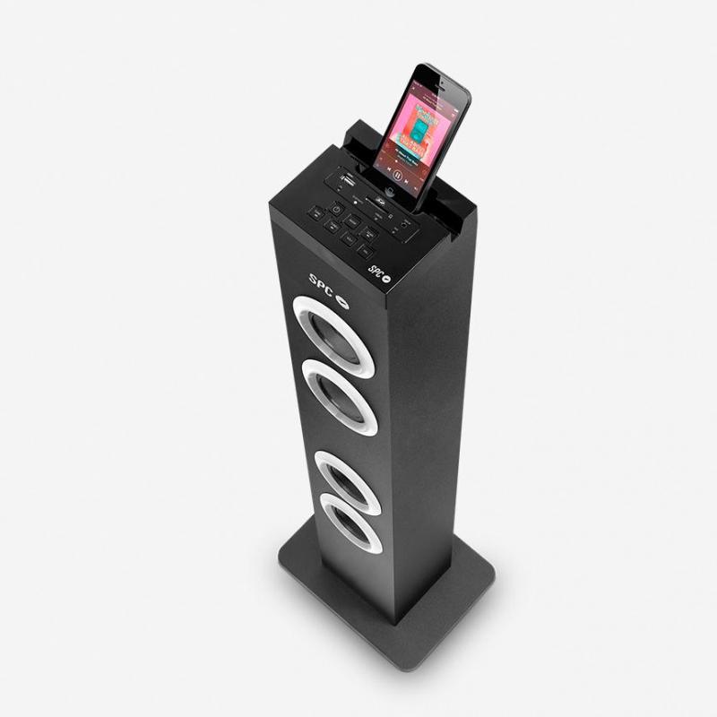ALTAVOZ TORRE DE SONIDO BLUETOOTH SPC BREZZER TOWER USB/RADIO FM/SD/AUX POTENCIA 10W RMS