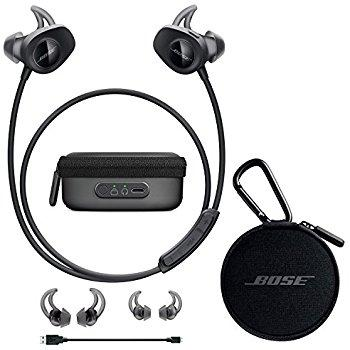 AURICULARES INALÁMBRICOS BLUETOOTH BOSE SOUNDSPORT WIRELESS + CHARGING CASE COLOR NEGRO