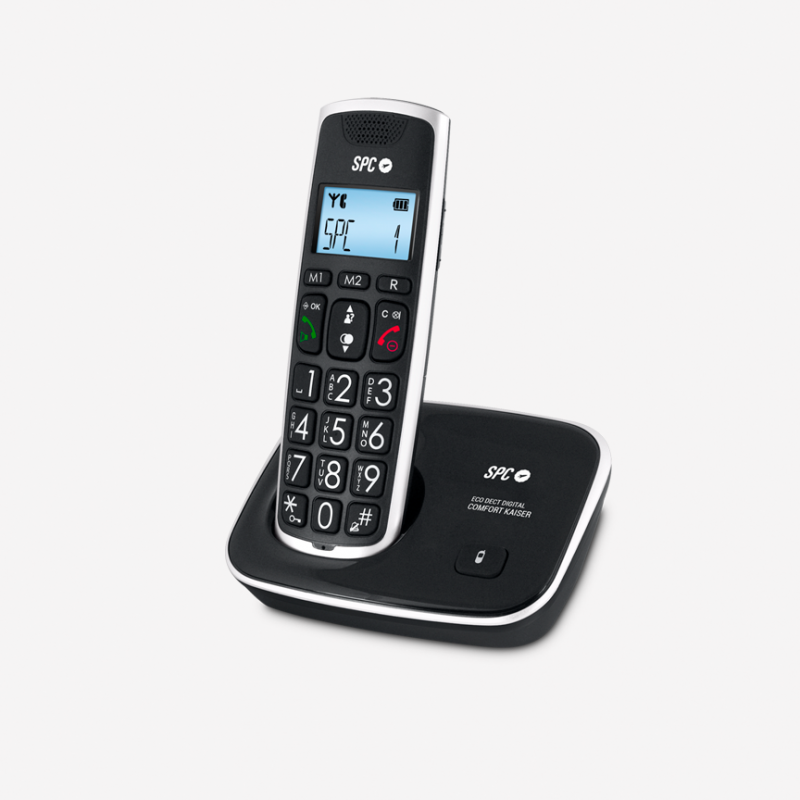 TELEFONO INALAMBRICO SPC COMFORT KAISER PARA PERSONAS MAYORES TECLAS GRANDES