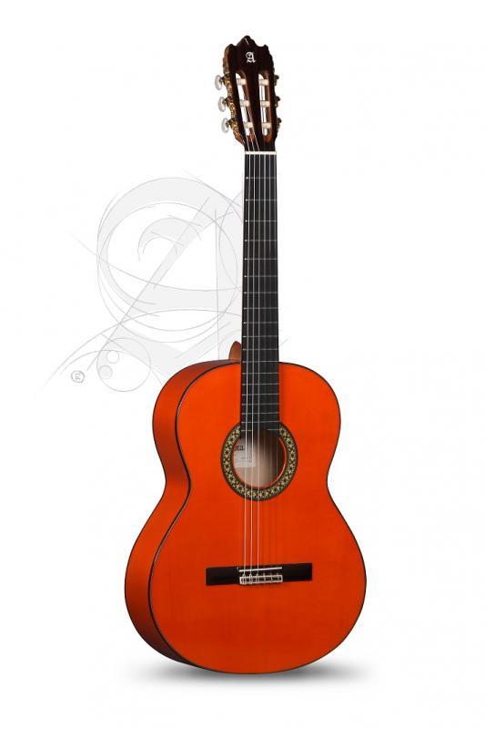 GUITARRA FLAMENCA ALHAMBRA CONSERVATORIO 4 F CON GOLPEADOR Y FUNDA 9738
