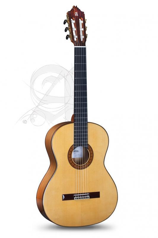 GUITARRA FLAMENCA ALHAMBRA CONCIERTO 8 Fc CON GOLPEADOR Y ESTUCHE 9557