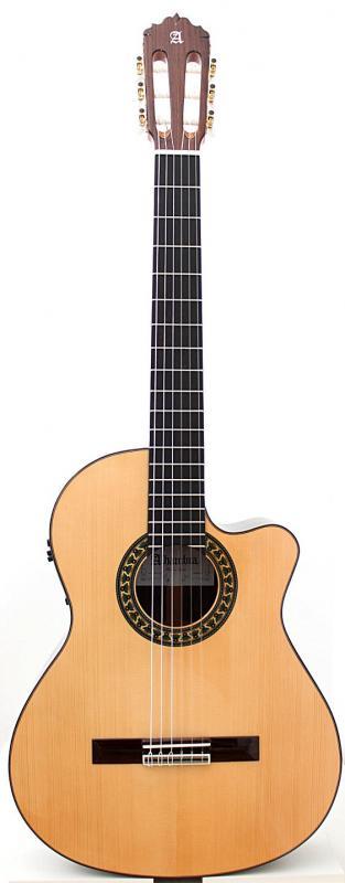 GUITARRA ACÚSTICA ELECTRIFICADA ALHAMBRA 5 P CW E2 - Guitarra Acústica Electrificada ALHAMBRA 5 P CW E2 FISHMAN Prefix-Pro Blend