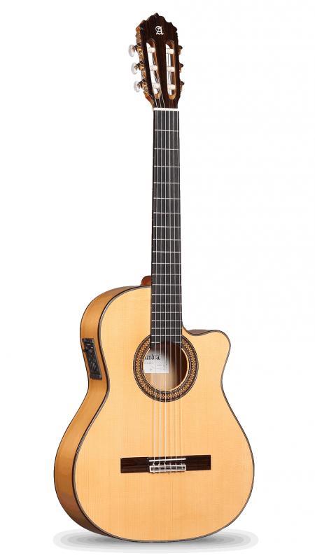 GUITARRA ACÚSTICA ELECTRIFICADA ALHAMBRA 7 Fc CW E2 FISHMAN Prefix-Pro Blend Con Golpeador - Guitarra Flamenca Acústica Electrificada ALHAMBRA 7 Fc CW E2 FISHMAN Prefix-Pro Blend Con Golpeador