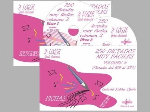 LIBRO DE 250 DICTADOS MUY FÁCILES VOLUMEN 2 - 2º LOGSE - EDICIONES SI BEMOL
