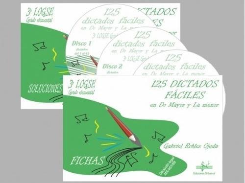 LIBRO DE 125 DICTADOS FÁCILES VOLUMEN 3 - 3º LOGSE - EDICIONES SI BEMOL