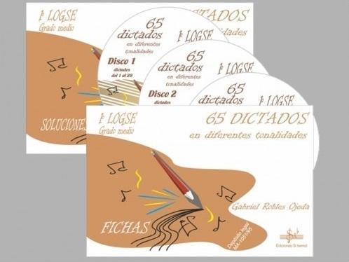 LIBRO DE 65 DICTADOS EN DIFERENTES TONALIDADES VOLUMEN 5 1º GRADO MEDIO EDICIÓN SI BEMOL