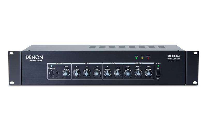 DENON DN-333XAB - Mezclador/amplificador DENON DN-333XAB 120W con receptor Bluetooth 2U rack.