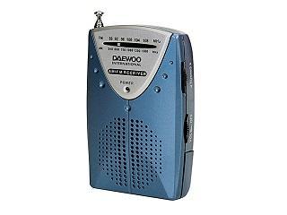 RADIO AM/FM DAEWOO AURICULARES INCLUIDOS COLOR AZUL