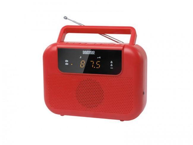 RADIO DIGITAL FM DAEWOO CON 20 PRESINTONIAS, ALARMA DUAL POR RADIO O ALARMA, FUNCION SLEEP Y DESPERT