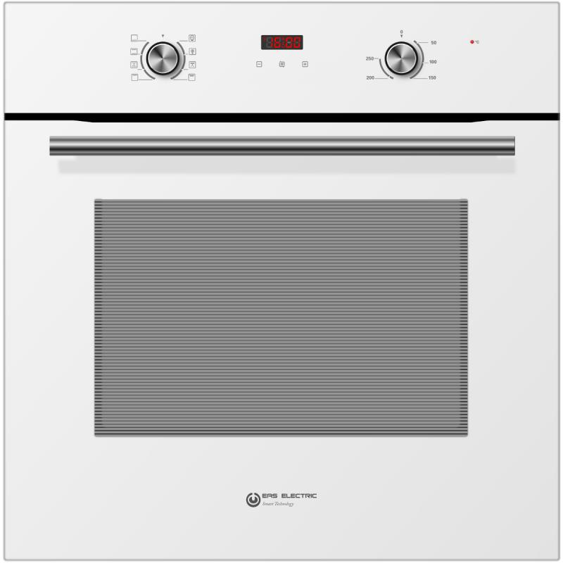 HORNO MULTIFUNCION EAS ELECTRIC DE CRISTAL BLANCO CON RAILES TELESCOPICOS