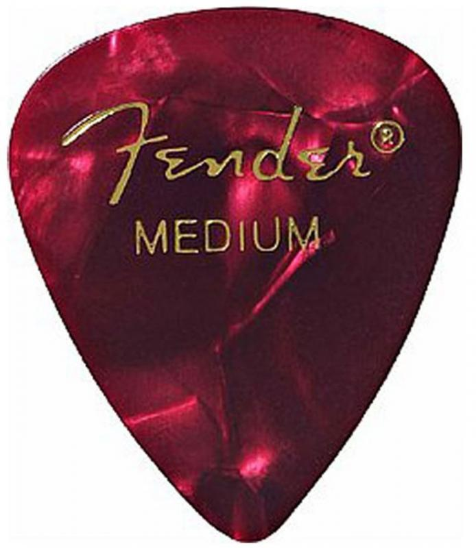PUA FENDER 351 Shape Premium Picks, , Red Moto, Medium