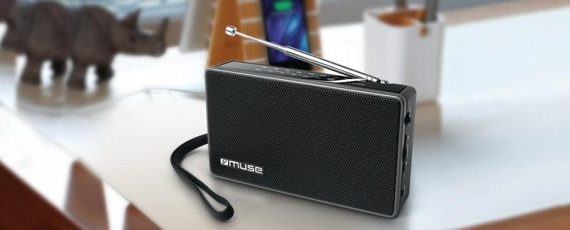 RADIO PORTATIL MUSE 2 BANDAS MOD. M030R COLOR NEGRO - RADIO PORTATIL MUSE 2 BANDAS MOD. M030R COLOR NEGRO